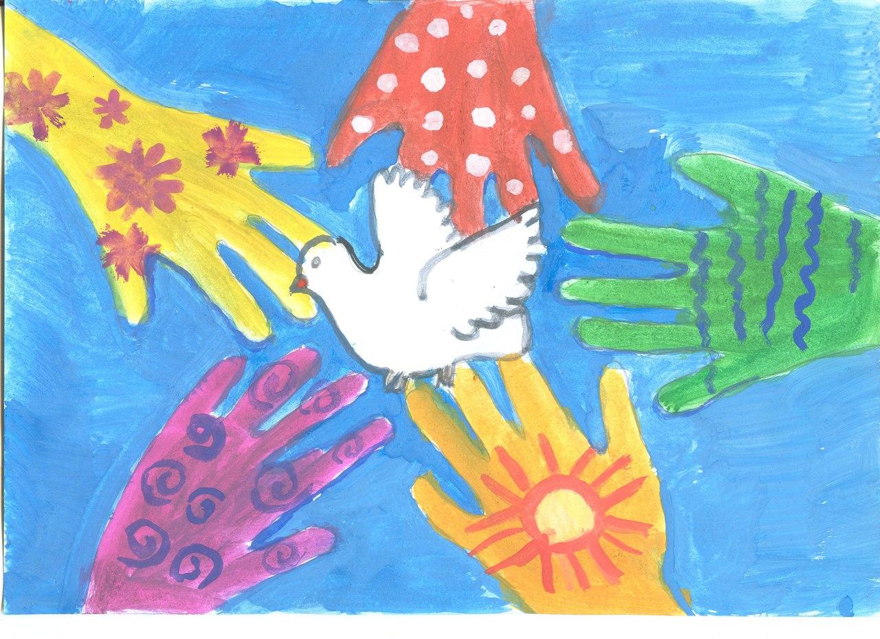 Рисунок слово мир рисую